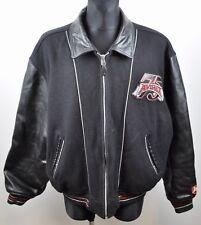 ARVEX Real Leather+Wool Jacket 3X Men's Bomber Biker Coat 3XL Classic Varsity