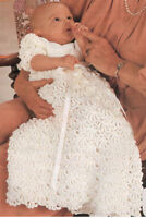 Crochet Pattern- Vintage Crochet Christening dress in 4 Ply