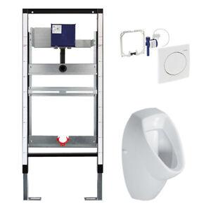 Vorwandelement  mit Urinal Keramik Geberit Spülung   Vorwandinstallation