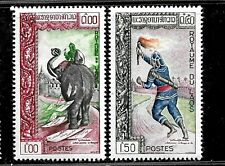 HICK GIRL- MINT LAOS STAMPS   SC#79-80    1962 ISSUES      E1008