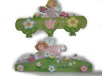 Holzgarderobe  Pink Kleiderhaken Kinderzimmer Kinder Garderobe Kinder-Wandgarder