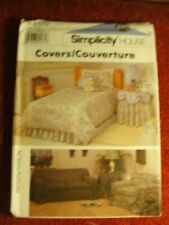 9800 Simplicity House Pattern Covers Bed Sofa & Chair Uncut