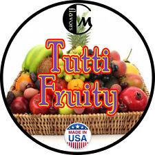 DIY Flavor Concentrates - TUTTI FRUITY - USP KOSHER - JUICE - LIQUID - WATER