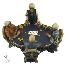 End Game Skeleton Gothic Fantasy Statue Figurine Poker Gambler gift room decor