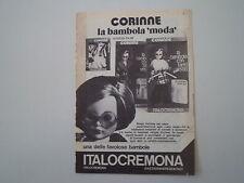 advertising Pubblicità 1974 BAMBOLA CORINNE ITALOCREMONA