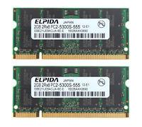 NEW 2x 2GB PC2-5300 DDR2-667MHz SODIMM Laptop Memory RAM For Lenovo ThinkPad T61