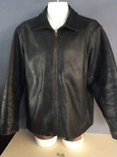 Vintage Mens Genuine Leather Full Zipper front Jacket GAP Size XL large