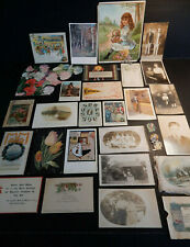 Ephemera-Postcards-Photo- Paper-Trade Card-Greeting-Victorian-A ntique-Misc Lot