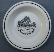 La Ferme Columbia RIDGWAY STEELITE Butter Dish/Ashtray 1972  ~ Restaurant Ware