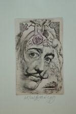 HOMMAGE OF DALI-OLDRICH KULHANEK*1940-2013-EXLIBRIS Bu.W. DANIEL-signed89