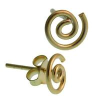 Ohrstecker vergoldet Spirale 925er Sterling Silber Silberohrstecker gold Ohrring