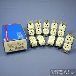 10 Leviton Almond COMMERCIAL Duplex Receptacle Outlets 15A 125V BR15-A
