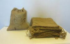 "4 Burlap Bags 12"" X 14"" With Drawstrings Sack Gunny Feed Bag Tow Sack Gift"