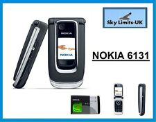 New Condition Nokia 6131 - Black (Unlocked) Mobile Phone (33606) Flip Fold
