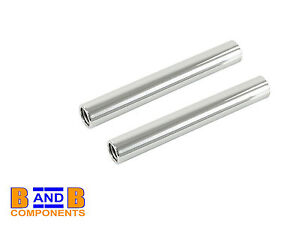VW T1 BEETLE BUG CHROME TAILPIPE TAIL PIPES x 2 113251163G 225mm A482