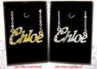 Collier Prénom CHLOE 18k plaqué or anniversaire personnalisé Cadeaux de Noël