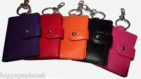 iLi Leather Card Case Key Fob with I.D. Window Luggage Tag 6719