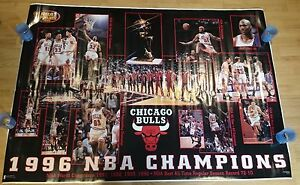 CHICAGO BULLS 1996 NBA WORLD CHAMPIONS Poster HUGE !!! NEW !!!