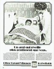 PUBLICITE ADVERTISING 0117  1971  réveil Bayard Vibrason 2