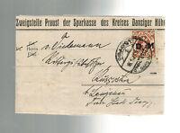 1923 Danzig Commercial Letter Cover Michel Mi D28