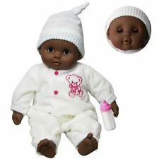 "16"" Black Dark Skin Ethnic Newborn Baby African Soft Bodied Doll Sleeping Eyes"