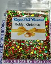 Limited Edition Glitter Mix~Golden Christmas* Comes With Alloy~ Nail Art