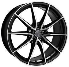 18x8 Enkei Rims DRACO 5x114.3 +35 Black Rims Fits Veloster Mazda Speed 3