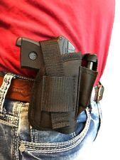 Sig/Sauer P238 with Laser OWB Belt Hip Gun holster With Extra Magazine Pouch