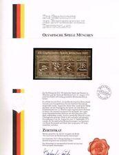 Germany Sports Postal Stamp Blocks