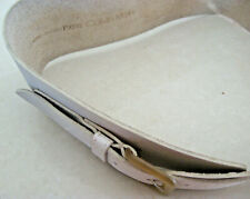"Calvin Klein Beige/Ivory Women'S 3.5"" Wide Corset Belt Lg Leather Vintage1980s"