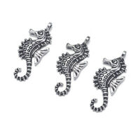 10pcs Antique Silver Tibetan Sea Horse Pendant Animal Charm for Jewelry Making