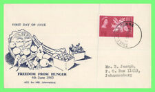 Tristan Da Cunha 1963 Freedom From Hunger issue on First Day Cover