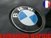 Remplacement Emblème Capot Avant Bleu/blanc Voiture 74 mm Logo Autocollant Bmw
