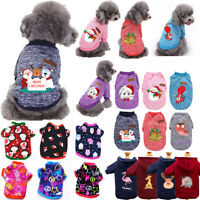 Christmas Pet Dog Cat Clothes Warm Sweater Coats Hoodies Puppy Xmas Sweatshirts