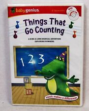 NEW Things That Go Counting Baby Genius DVD Bonus CD A Sing-Along Musical 0-36