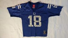 NFL Indianapolis Colts Peyton Manning Boys Football Jersey Size Large 14-16