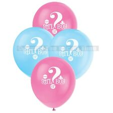"""GENDER REVEAL Unisex Girl Or Boy Party Decorations 12"""" Latex BALLOONS x8"""