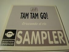 RAR PROMO SINGLE CD. TAM TAM GO. CRUZANDO EL RÍO. SAMPLER.  ED. CARTÓN.