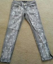 London bridge women skinnt jeans size 29 acid wash gray