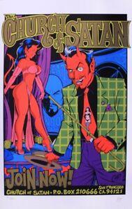 Coop - 1996 - Church of Satan Poster (Gold) 22.5 x 35