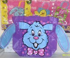 New Large Easter Gift Basket Supplies Egg Hunt Baskets Easter Tote Playset