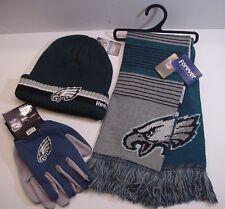 Philadelphia Eagles Logo Fan Apparel Set Scarf Cap Gloves NFL Authentics (RBOF)