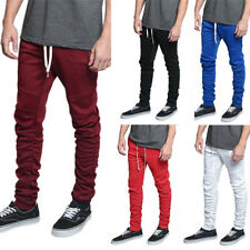 Men's Scrunched Bungee  Drawstring Jogger Sports Workout Track Pants TR547-V1A
