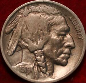 1919-D Denver Mint Buffalo Nickel