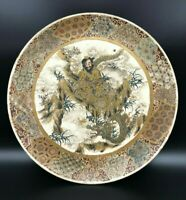 Antique Japanese Satsuma Charger Plate - Meiji Period