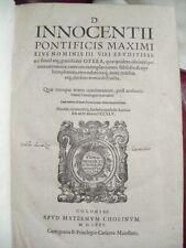 Pape Innocent D. Innocentii Pontificis Maximi de 1575