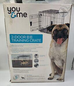 "You & Me 2-Door Training/Folding Dog Crate, 23.6"" L x 16.5""W x 19.5""H  Open Box"