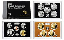 (1) 2012 United States Mint Silver Proof Set in Original Box