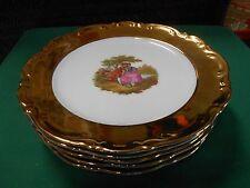 RARE Vintage MITTERTEICH Bavaria 22kt Gold-Victorian  Design-Set 5 DINNER Plates