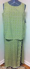 LIZ CLAIBORNE 100% Silk Skirt Set Outfit Wrap skirt Sleeveless Blouse SZ 1P NWT